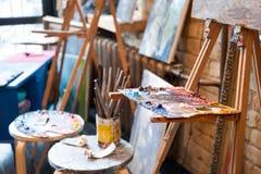 Estúdio da pintura Fotografia de Stock Royalty Free