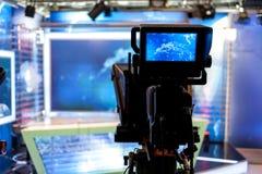 Estúdio da televisão Fotos de Stock