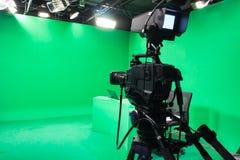 Estúdio da televisão Fotografia de Stock
