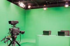 Estúdio da televisão Imagens de Stock Royalty Free