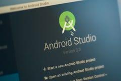 Estúdio de Android imagens de stock