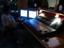 Estúdio de gravação Imagens de Stock Royalty Free