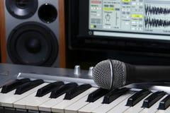 Estúdio de gravação home Imagens de Stock Royalty Free