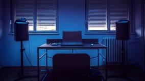 Estúdio de gravação home simples Foto de Stock Royalty Free