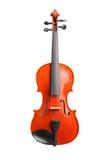 Estúdio disparado de um violino de madeira marrom Fotografia de Stock Royalty Free