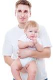 Estúdio disparado do pai e do filho Fotografia de Stock