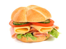 Estúdio do sanduíche e do medidor da dieta isolado Imagens de Stock