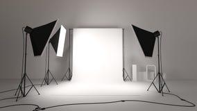 Estúdio fotográfico ilustração royalty free