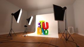 Estúdio fotográfico ilustração stock