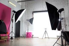 Estúdio moderno da foto Imagens de Stock Royalty Free