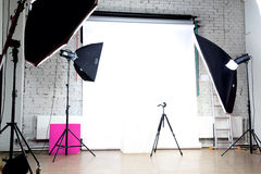 Estúdio moderno da foto Fotografia de Stock