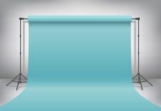 Estúdio vazio da foto Zombaria realística do molde 3D acima Vetor Imagem de Stock Royalty Free