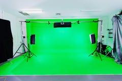 Estúdio verde da tela Imagem de Stock Royalty Free