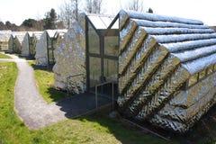 Estúdios da arte moderna situados no campus universitário de Aberystwyth Imagem de Stock