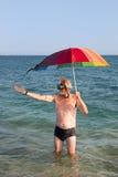 Est elle pleuvant Image libre de droits