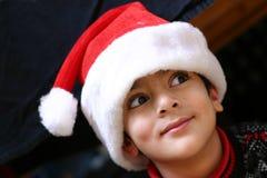 Est-elle Santa ici ? image stock