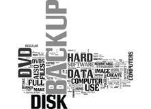 Est le stockage de Dvd par alternative séduisante pour votre concept de nuage de Word de fond des textes de support d'ordinateur Image stock