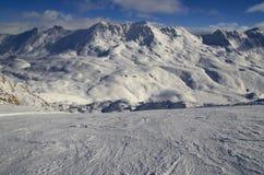 Est?ncia de esqui France Espace Killy Fotos de Stock Royalty Free