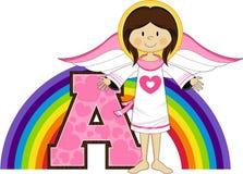 A est pour l'ange Images libres de droits