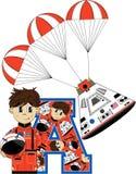 A est pour l'astronaute Image stock