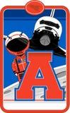 A est pour l'astronaute Photos libres de droits