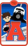 A est pour l'astronaute Images stock