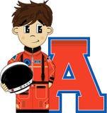 A est pour l'astronaute Photographie stock libre de droits