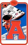 A est pour l'astronaute Photo libre de droits