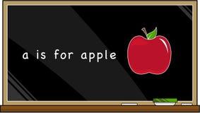 A est pour la pomme Photos libres de droits