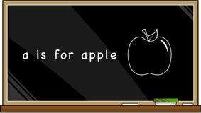 A est pour la pomme Images libres de droits