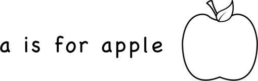 A est pour la pomme Images stock