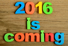 2016 est prochain mot Image stock