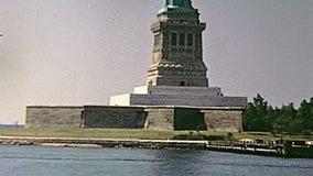 Est?tua de Liberty Island vídeos de arquivo