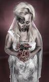 Jeune mariée de zombi Photographie stock libre de droits