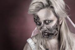 Jeune mariée de zombi Images stock