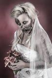 Jeune mariée de zombi Photos libres de droits