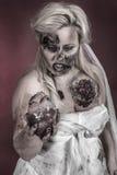 Jeune mariée de zombi Photo libre de droits