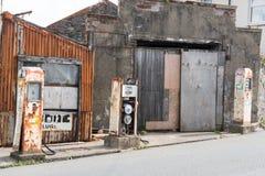 Estação abandonada do combustível Fotos de Stock