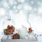 Estação abstrata do inverno do fundo Imagens de Stock