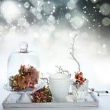 Estação abstrata do inverno do fundo Foto de Stock Royalty Free