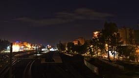 Estação ardente com luzes Foto de Stock