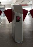 Estação automática da entrada da máquina da verificação do bilhete Imagem de Stock Royalty Free