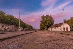 Estação Bakov nad Jizerou em Boêmia central Imagens de Stock Royalty Free