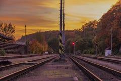 Estação Bakov nad Jizerou em Boêmia central Imagem de Stock Royalty Free