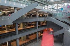 Estação central ANTUÉRPIA de Antuérpia 3 de fevereiro 2015 imagem de stock royalty free
