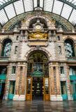 Estação central, Antwerpen Foto de Stock