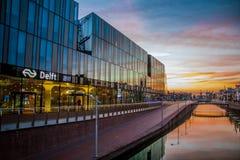 Estação central da louça de Delft os Países Baixos Fotografia de Stock Royalty Free