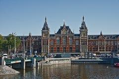 Estação central de Amsterdão, Países Baixos Fotografia de Stock
