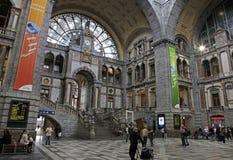 Estação central de Antuérpia, Antwerpen/Anvers (cidade), região de Flanders, Bélgica Fotografia de Stock Royalty Free