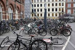 Estação central de Copenhaga fotografia de stock